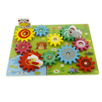 Wooden Animal 3D Gears Building Block Set Toys Kids Gift Educational Toys