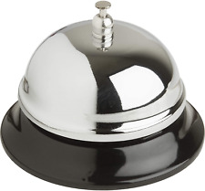 Nickel Plated Bell Call Restaurant Desk Hotel Lobby Office Supplies Serving New