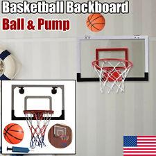 Indoor Mini Basketball Hoop Backboard Kit Office Sport Game Kid Gift w/Ball&Pump