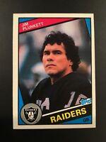 1984 Topps #114 JIM PLUNKETT Los Angeles Raiders Set Break MINT Look