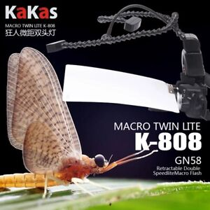 Kakas Macro Twin Lite Flash K-808 Professional Macro Ring Flash Light for DSLR