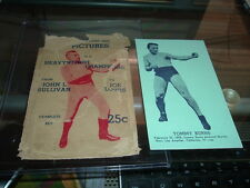 1947 Kidherman Boxing Tommy Burns with Original Wrapper Exhibit Size