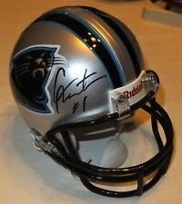 CAM NEWTON Panthers Autographed Mini Helmet with BDS COA #2125