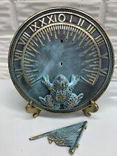 New ListingNew 7� Metal Brass Garden Sundial with Frog