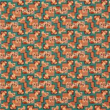 Downton Abbey Egyptian Reed Maze Cotton Fabric Andover   By the Yard Bfab