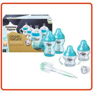 ❤ Tommee Tippee Closer to Nature Newborn Starter ESSENTIALS Set Breast Feed Teat