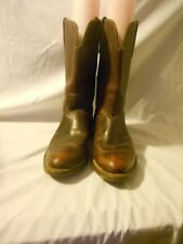 Brown Men Very Heavy Leather Western Roper Boots 8 D
