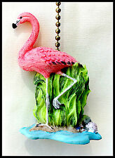 Ceiling Fan or light pull Flamingo with chain home decor