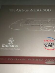 """HERPA 523431Emirates Airbus A380 """"US Open""""  A6-EDM 1:500"""