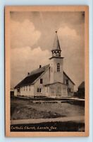Lacolle, Quebec, Canada - EARLY 1900s VIEW OF CATHOLIC CHURCH - POSTCARD