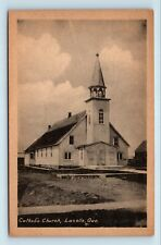Lacolle, Quebec, Canada - RARE EARLY 1900s VIEW OF CATHOLIC CHURCH - POSTCARD