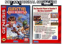 Gunstar Heroes - Sega Genesis Custom Case *NO GAME*