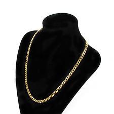 "Hot Punk Gold Filled Chain Cuban Long Necklace 18"" 5mm Men Women Hip Hop Jewelry"