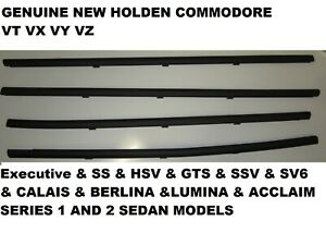 Outer Door Weather Window Rubber Seal Holden commodore VT VX SS SEDAN GENUINE