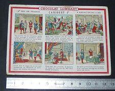 GRAND CHROMO 1900-1915 CHOCOLAT LOMBART ROIS DE FRANCE CARIBERT 1er
