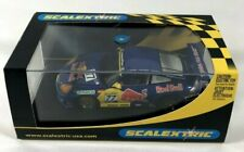 Scalextric C2275 Porsche 911 GT3R Red Bull Racing Slot Car #77 Blue 1/32 NIB