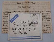 Mayfairstamps France 1944 Military Post Tarn to BCMIFS Airmail cover & Letter ww