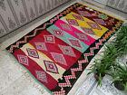handmade vintage moroccan berber rug azilal tribal wool rug bohemain carpet