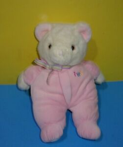 "Vintage Eden ABC Teddy Bear Pink Pastel Pajama Stuffed Soft Animal Plush Toy 12"""
