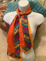 Vintage liz claiborne Southwest Silk Scarf..Bright Bold Colors