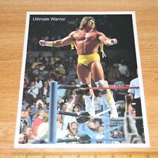Ultimate warrior rare official wcw wwe wwf 8x10 wrestling photo