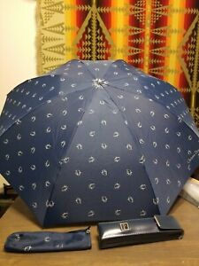 """Christian Dior Umbrella """"Parapluis"""" Compact with sleeve & Hard Cover"""