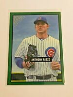 2017 Topps Gallery Baseball Green Heritage #/250 - Anthony Rizzo - Chicago Cubs