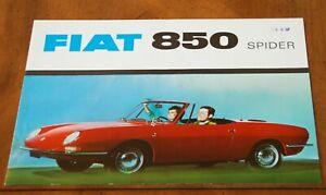 Fiat 850 Spider brochure Prospekt, 1967 (German text)