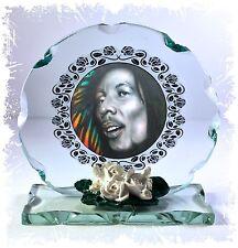Bob Marley Cut Glass Round Plaque Unique Limited Edition Memorabilia Giorgio