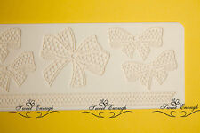 Large Lace Bow Mat Mould sugar craft Silicone Cake cup cake decorating wedding
