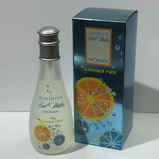 DAVIDOFF COOL WATER SUMMER FIZZ 100ml EDT Spray Women's Perfume NEW
