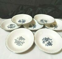 """Vintage Royal Blue Bowls Ironstone Wedgewood Enoch  5 1/4"""" lot of 7 Preowned"""