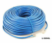200ft CAT5e Blue RJ45 UTP Ethernet LAN Network Non Boot Assembly Patch Cable