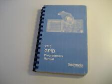 Tektronix 2710 Spectrum Analyzer GPIB IEEE488 programming manual ORIGINAL