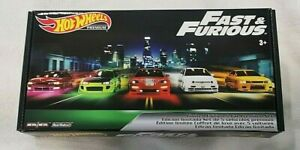 Hot Wheels Fast and Furious Set, Original Fast 5 CARS, Jetta, Eclipse, Skyline