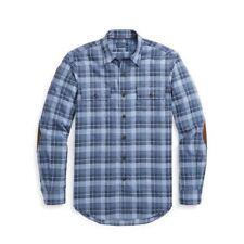 Mens Polo Ralph Lauren Classic Fit Cotton Shirt Suede Elbow Patches $158 2XL XXL