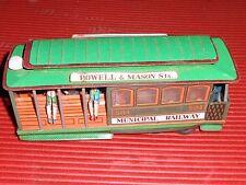 VINTAGE TIN  TOY TROLLEY TRAIN CAR MUNICIPAL RAILWAY 504  SAN FRANCISCO