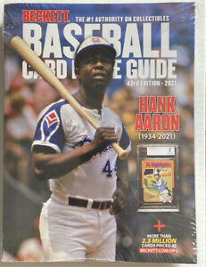 43rd Edition 2021 Beckett Baseball Card Price Guide Hank Aaron
