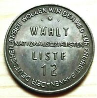 WW2 GERMAN COMMEMORATIVE REICHSMARK COLLECTORS COIN LISTE 12 A.H.