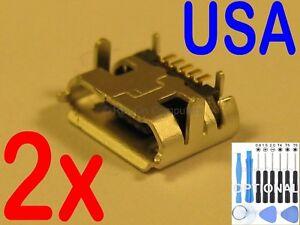2x Micro USB Charging Port Sync For Asus Memo Pad ME170 ME170C ME170CX Tablet