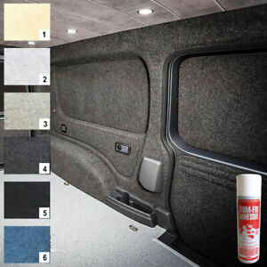 10 sqm Camper Van Lining Carpet Kit Super Stretch Inc 5 Cans of Trimfix Adhesiv