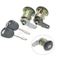 2x Front Door Lock Barrel + Key Set For Ford Fiesta MK4 1995-02 KA 96-08 Courier