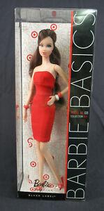 Barbie Basics Model 03 Collection RED Doll Brunette V0335 2010 Mattel