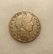 1913-P Barber Half Dollar - Scarce Key Date - Very Nice Looking Coin