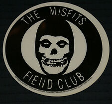 The Misfits - Fiend Club - Sticker NEW OLD STOCK FROM 2002 OUT OF PRINT RARE