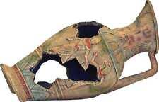 Egyptian Vase Aquarium Ornament With Hiding Cave Fish Tank Decoration