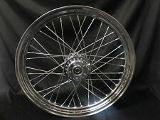 23 x 3.00 Chrome Hub Spokes Rim 3/4 Sealed Brg HD H-D Harley Davidson 2000-Later
