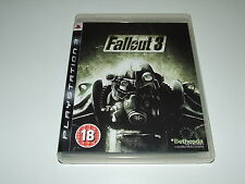 FALLOUT 3 by BETHESDA for PS3 PLAYSTATION COMPLETE EXCELLENT CONDITION
