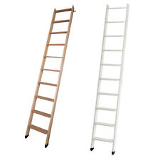 DOLLE Hochbettleiter 10 Stufen Anlegeleiter Holz Leiter für Hochbett natur/weiß