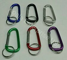 "6 Carabiner Spring Clip 2.25"" Keychain Backpack Key Ring Chains Belt Hook"
